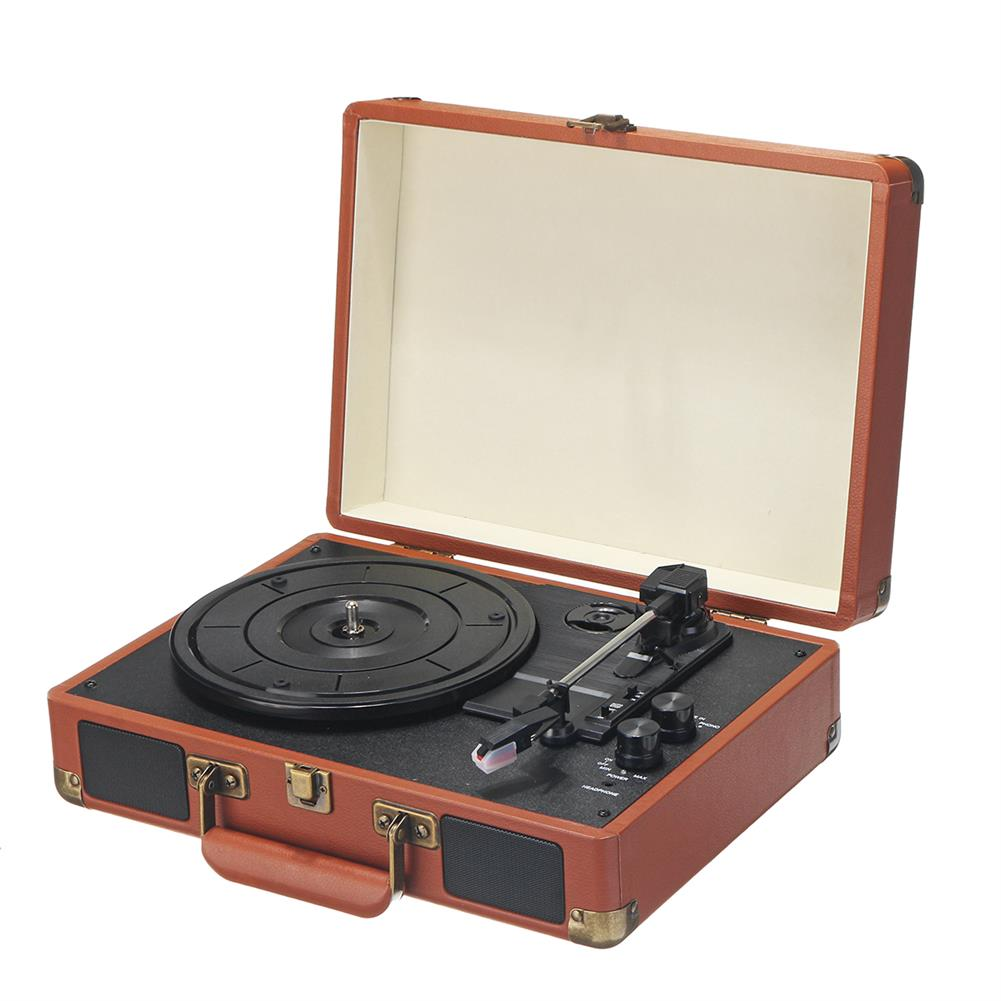 microphones-karaoke-equipment Bluetooth Vinyl Record Player Turntable 2.0 Stereo Speaker 3 Speed Radio HOB1721163