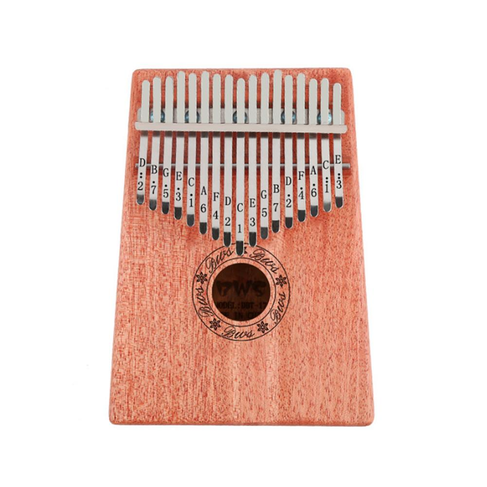 kalimba 17 Key African Mahogany Wooden Kalimbas Thumb Piano Finger Percussion Music Mbira HOB1721216 1