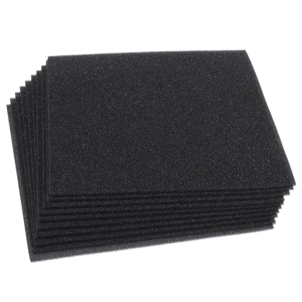 general-accessories 10PCS Acoustic Wall Panel Soundproof Foam Pads Car Studio insulation Treatment 20x20cm HOB1721635