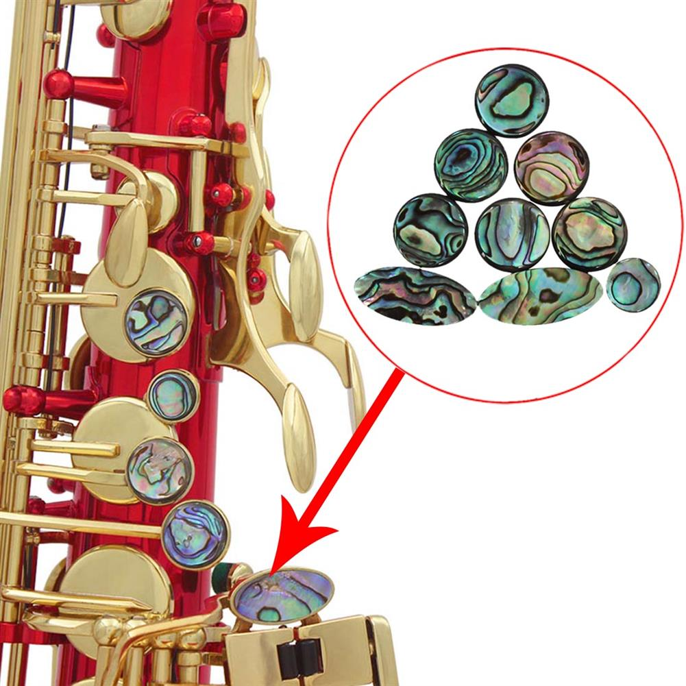 woodwind-brass-accessories 9PCS Saxophone Abalone Shell Button Applicable 10or Treble ATLO Saxophone Musical instrument Parts HOB1723485