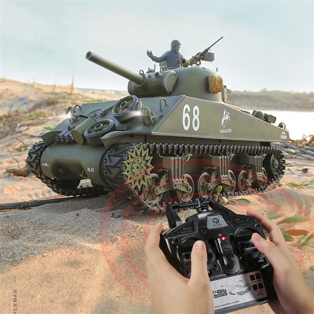 rc-tank-rc-vehicles Heng Long 3898-1 2.4G 1/16 US Sherman M4A3 Upgraded RC Car Tank Vehicle Models HOB1725190