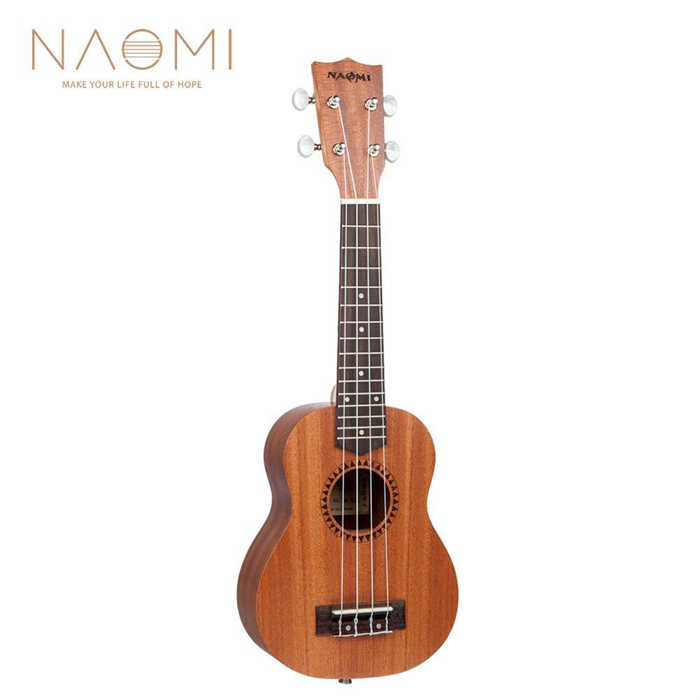 ukulele Naomi Ukulele Sapele Mahogany Ukulele 21'' Soprano10or Ukulele Acoustic Guitar HOB1726157