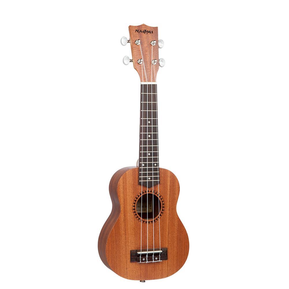 ukulele Naomi Ukulele Sapele Mahogany Ukulele 21'' Soprano10or Ukulele Acoustic Guitar HOB1726157 1