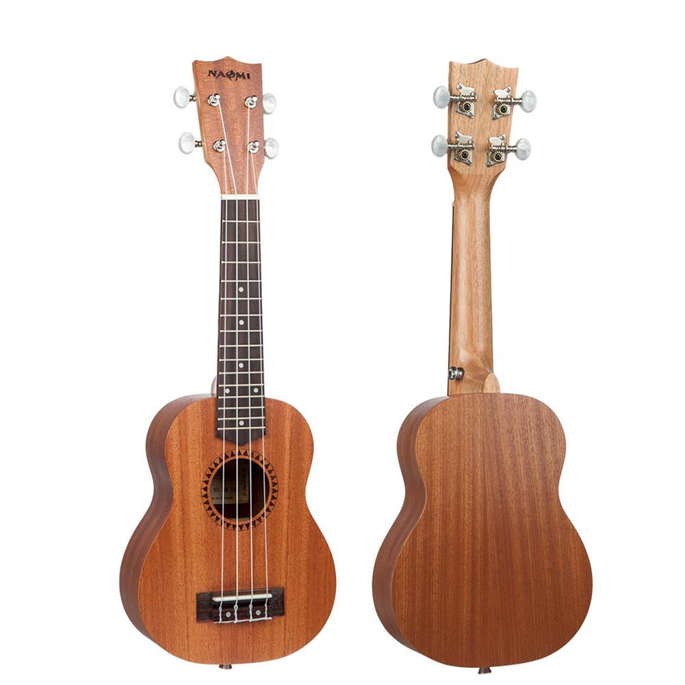 ukulele Naomi Ukulele Sapele Mahogany Ukulele 21'' Soprano10or Ukulele Acoustic Guitar HOB1726157 3
