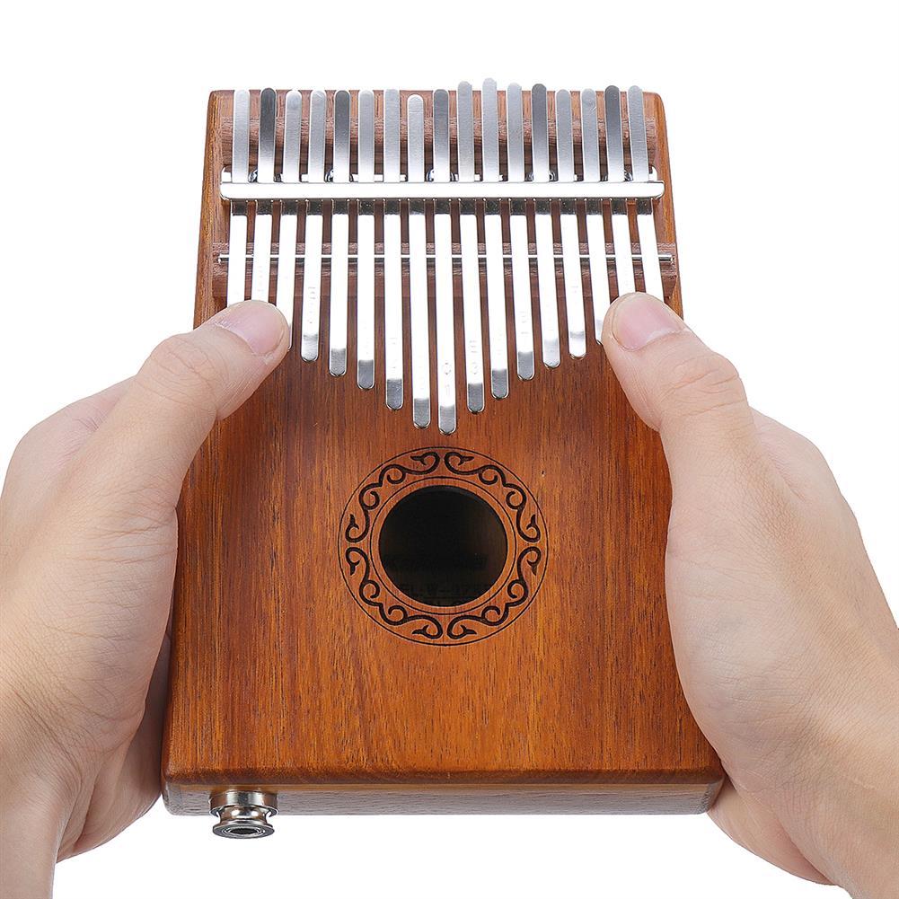 kalimba 17 Keys Electric Kalimbas Acacia Thumb Piano Wood Finger Percussion Music w/Cable HOB1726308