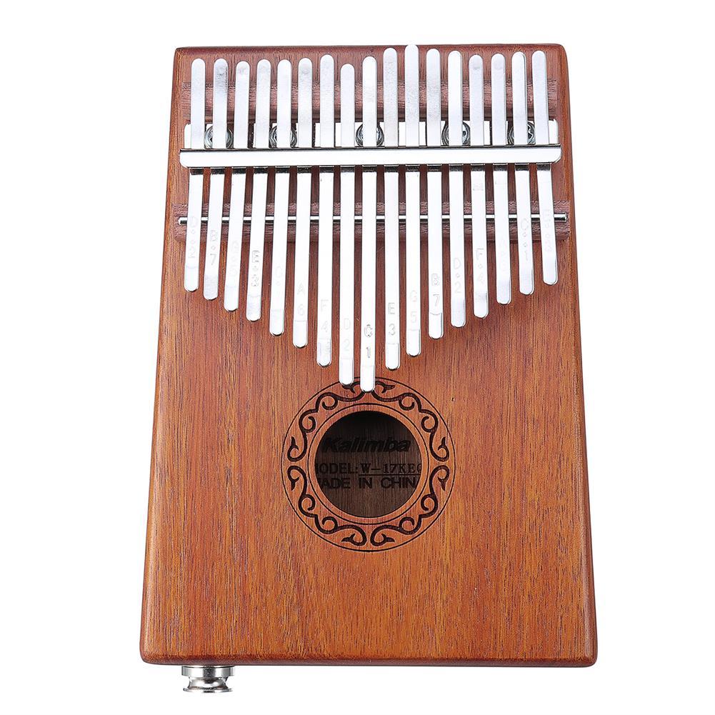 kalimba 17 Keys Electric Kalimbas Acacia Thumb Piano Wood Finger Percussion Music w/Cable HOB1726308 1