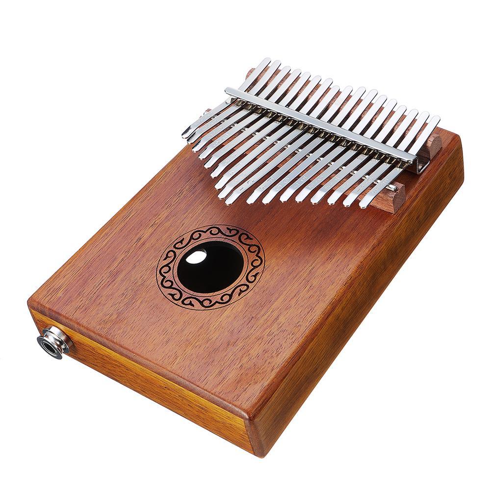 kalimba 17 Keys Electric Kalimbas Acacia Thumb Piano Wood Finger Percussion Music w/Cable HOB1726308 2