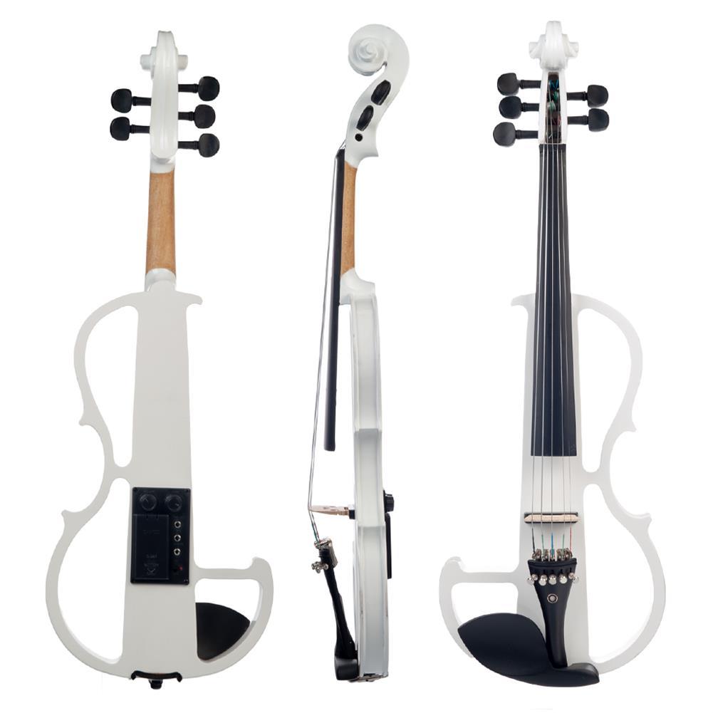 violin NAOMI 4/4 Full Size Electric Violin Fiddle 5 String Silent Violin Accessories HOB1726674 2