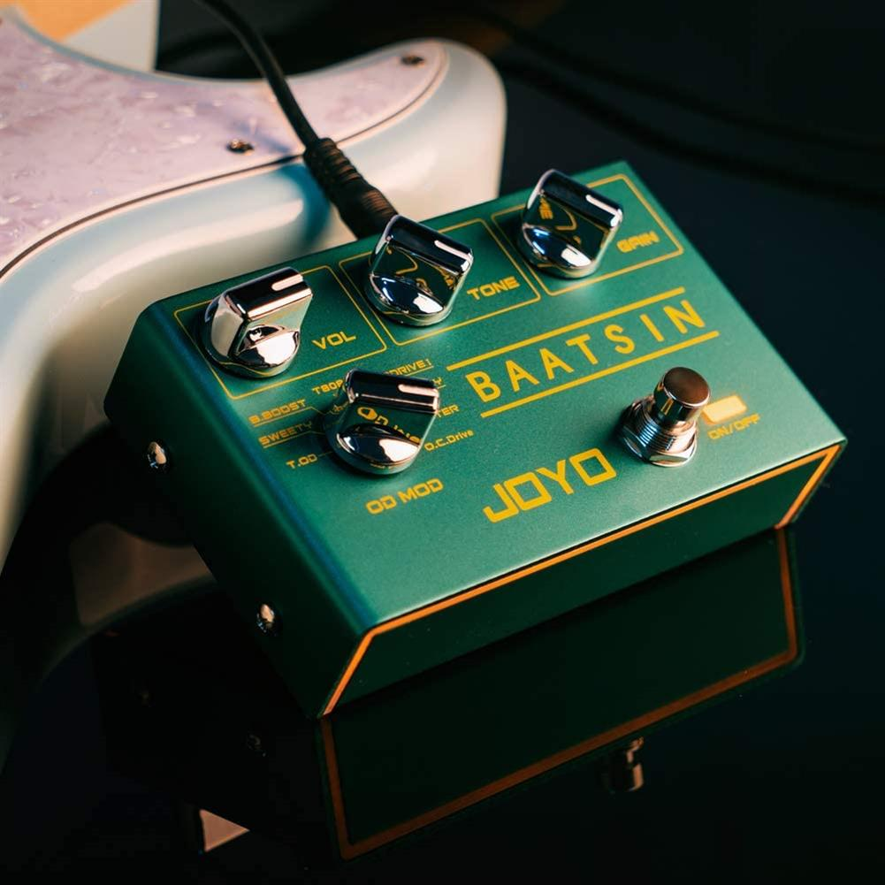 guitar-accessories JOYO R-11 Baatsin Overdrive Pedal Distortion Effect Pedal Multi Effect Pedal Pure Analog Circuit with 8 Different OD/DS Effects HOB1726982