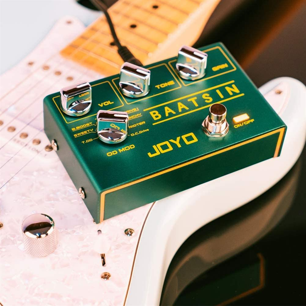 guitar-accessories JOYO R-11 Baatsin Overdrive Pedal Distortion Effect Pedal Multi Effect Pedal Pure Analog Circuit with 8 Different OD/DS Effects HOB1726982 1