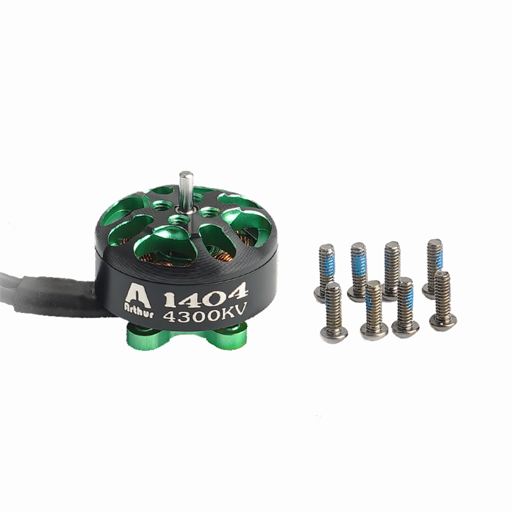multi-rotor-parts Flashhobby Arthur Series A1404 1404 4300KV 2-4S Brushless Motor 1.5mm Shaft for 3-4 inch RC Drone FPV Racing HOB1727548