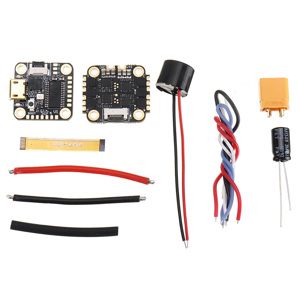 multi-rotor-parts 16x16mm GEELANG SIF4 V1 F4 OSD Flight Controller & 13A BLheli_S 2-4S 4in1 Brushless ESC Stack for Anger 75X 85X RC Drone FPV Racing HOB1729095