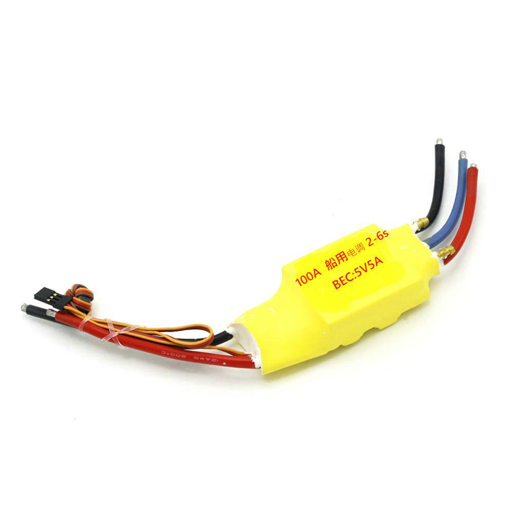 rc-boat-parts Brushless ESC 30A 50A 80A 100A 200A 2-3S 5V 3A Double Side Water Cooled ESC RC Boat Parts HOB1730078 1