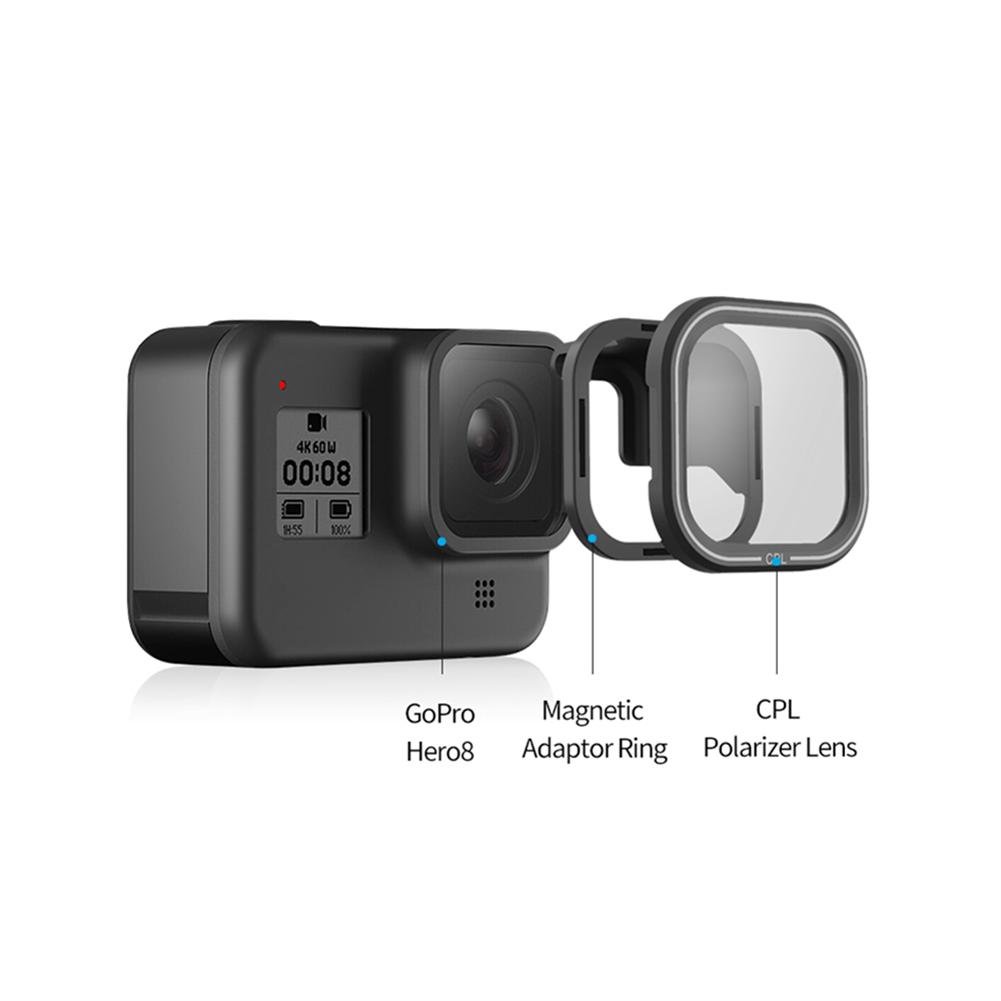 fpv-system TELESIN CPL Magnetic Filter Set Lens Protector for Gopro Hero 8 Action Camera Lens Accessoreis HOB1731998
