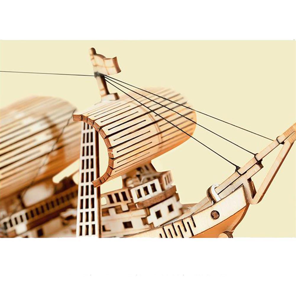 puzzle-game-toys Robotime TG305 Haiyang Sailboat 3D Puzzle DIY Hand-assembled Wooden Sailboat Model Toys HOB1732202 1