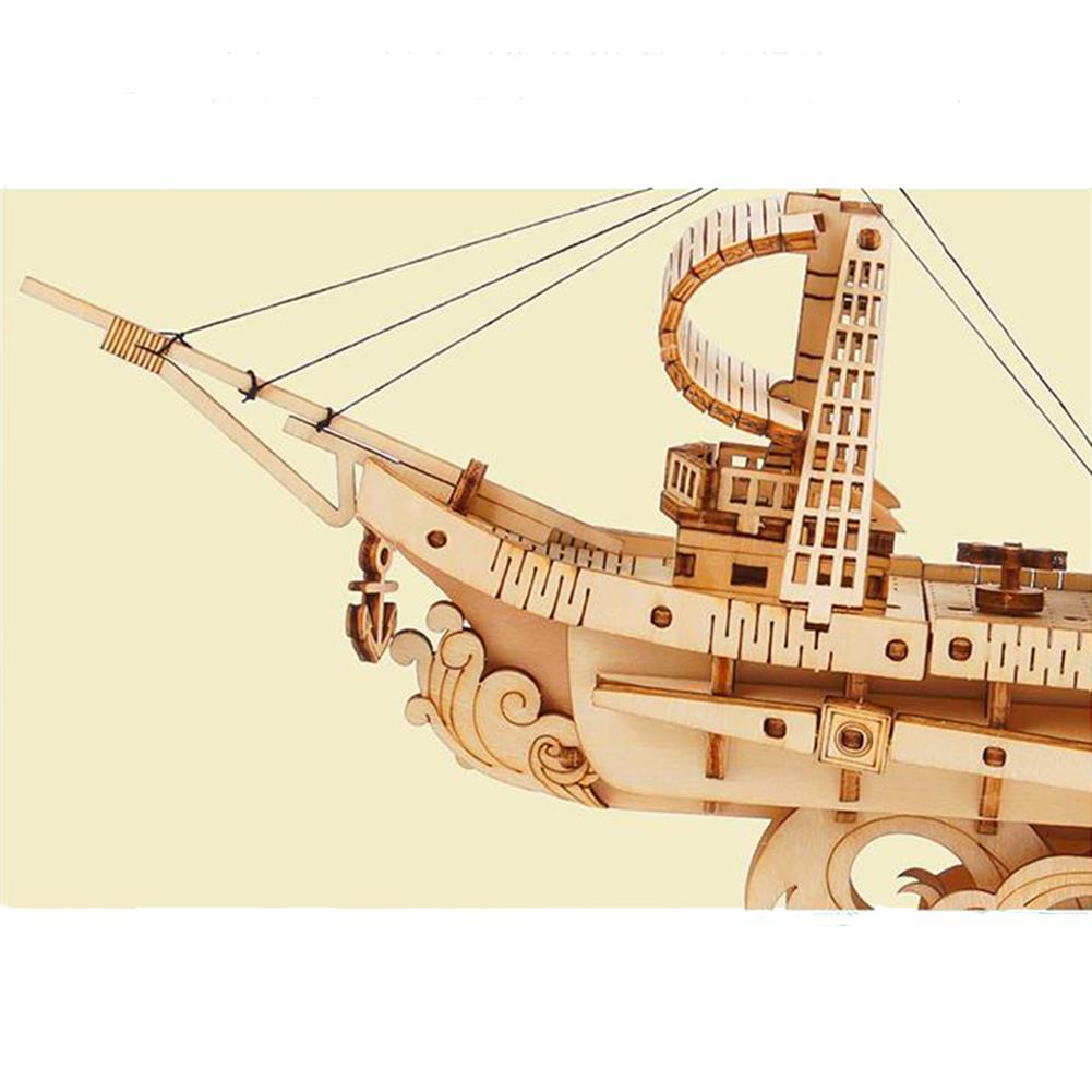 puzzle-game-toys Robotime TG305 Haiyang Sailboat 3D Puzzle DIY Hand-assembled Wooden Sailboat Model Toys HOB1732202 2