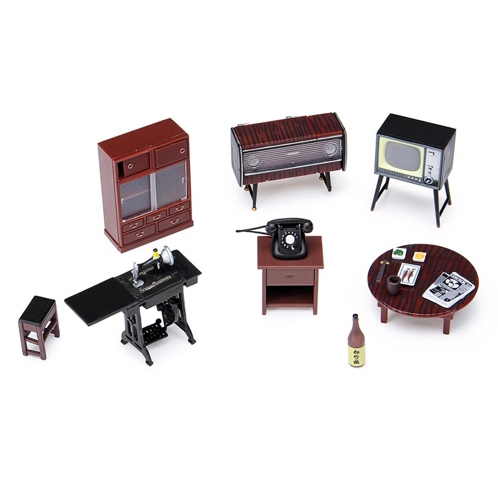 doll-house-miniature 1:24 Vintage Miniature Japanese Style Furniture Play Dollhouse Toys for Kids HOB1732203