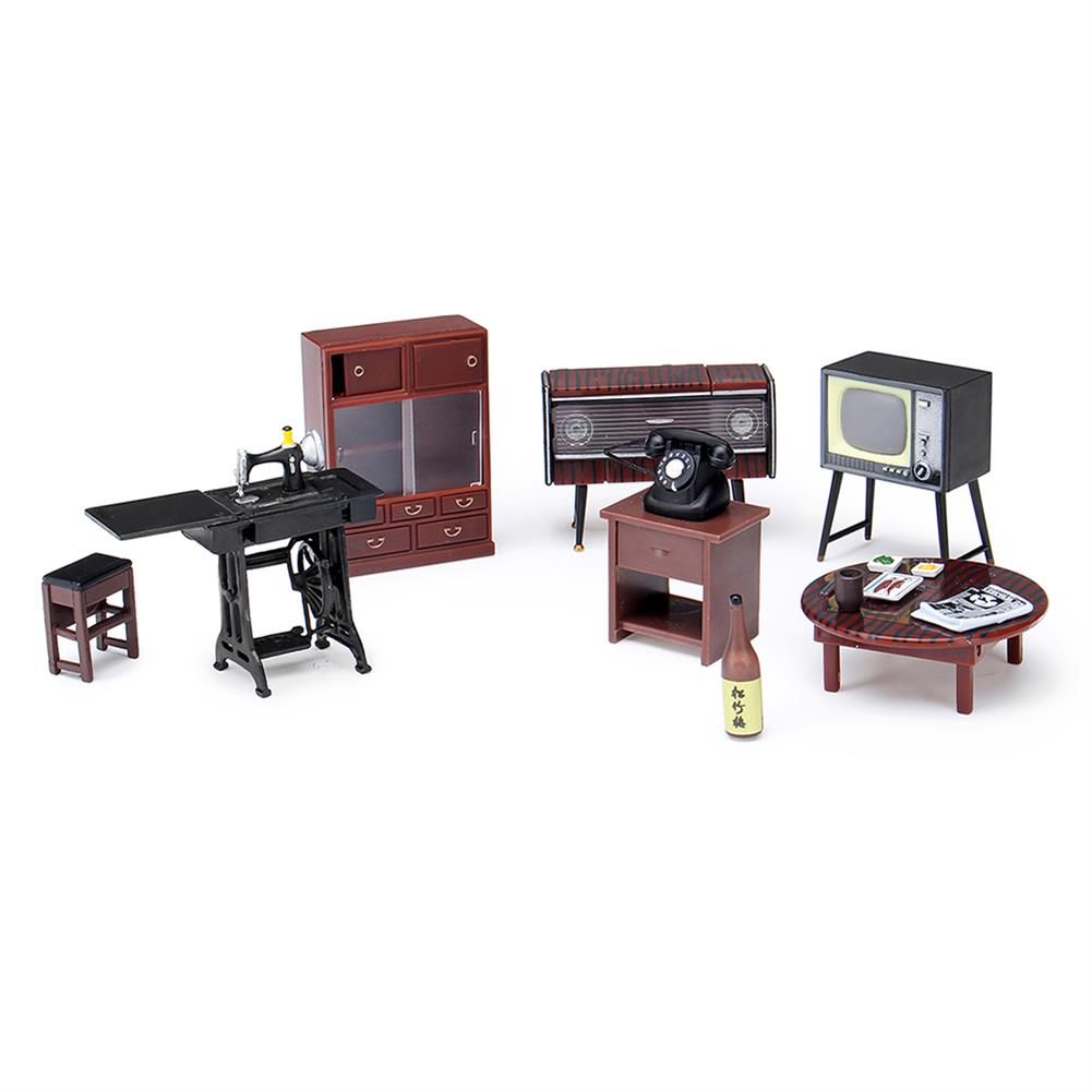 doll-house-miniature 1:24 Vintage Miniature Japanese Style Furniture Play Dollhouse Toys for Kids HOB1732203 1