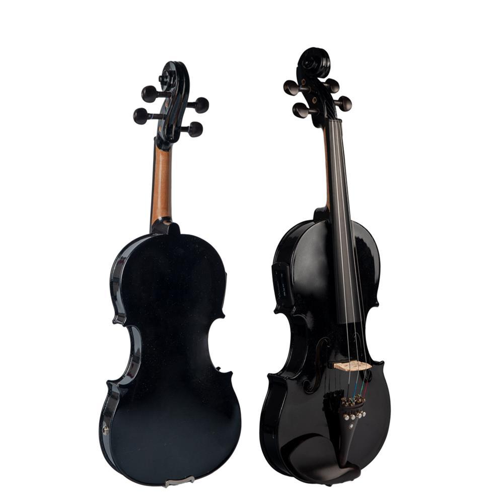 violin NAOMI 4/4 Acoustic Electric Violin Fiddle EQ Violin with Ebony Accessories HOB1732634 1