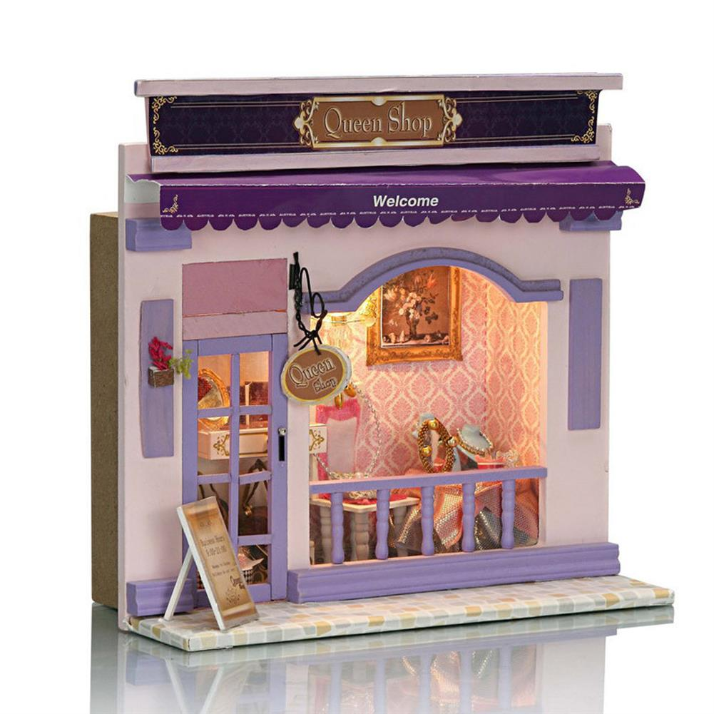 doll-house-miniature Wooden Multi-style 3D DIY Handmade Assemble Doll House Miniature Kit with Furniture LED Light Education Toy for Kids Gift Collection HOB1733534 1