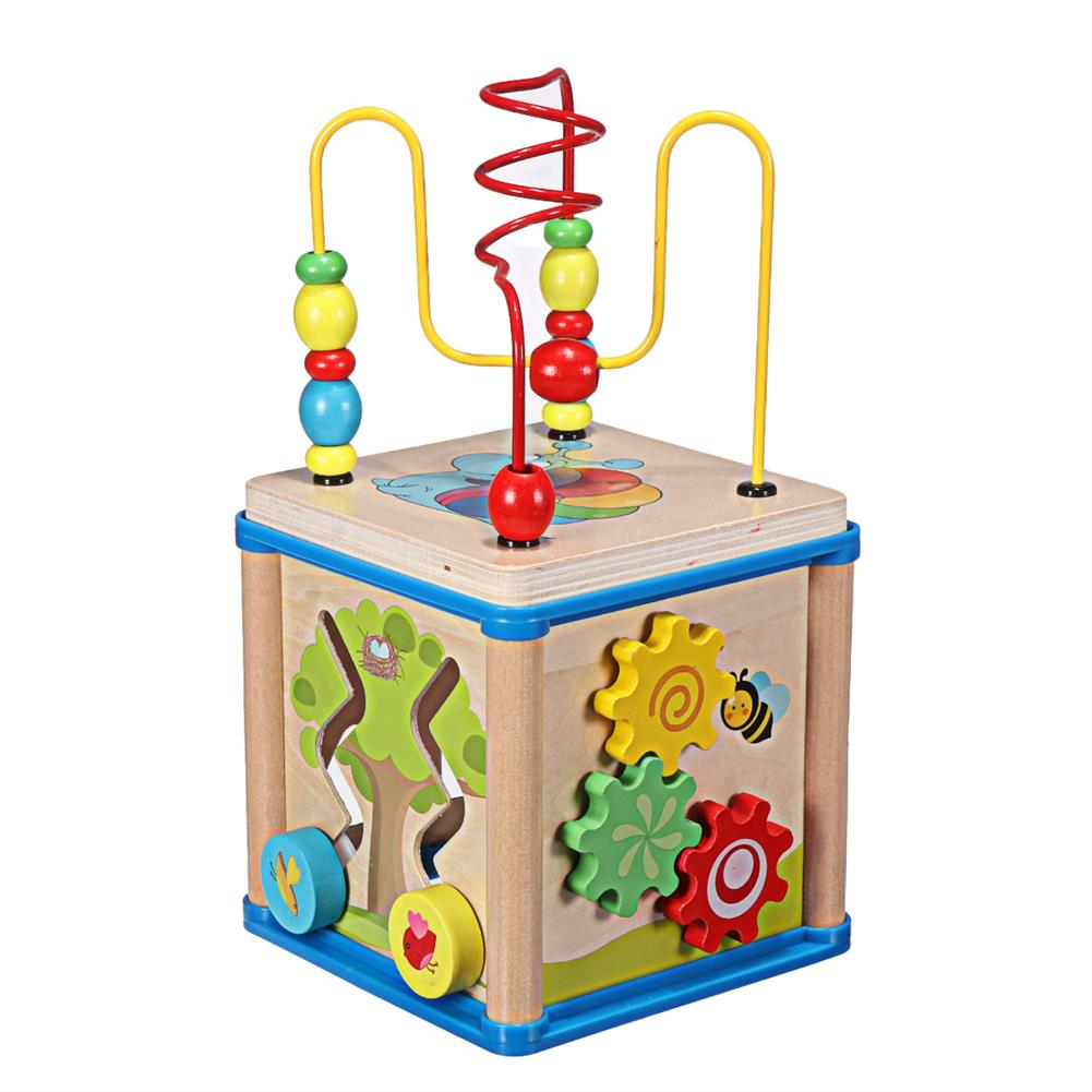 puzzle-game-toys Wooden Multi-functional Wisdom Aroind Treasure Box with Beads Parent-child Educational Learning Toy for Kids Gift HOB1733559