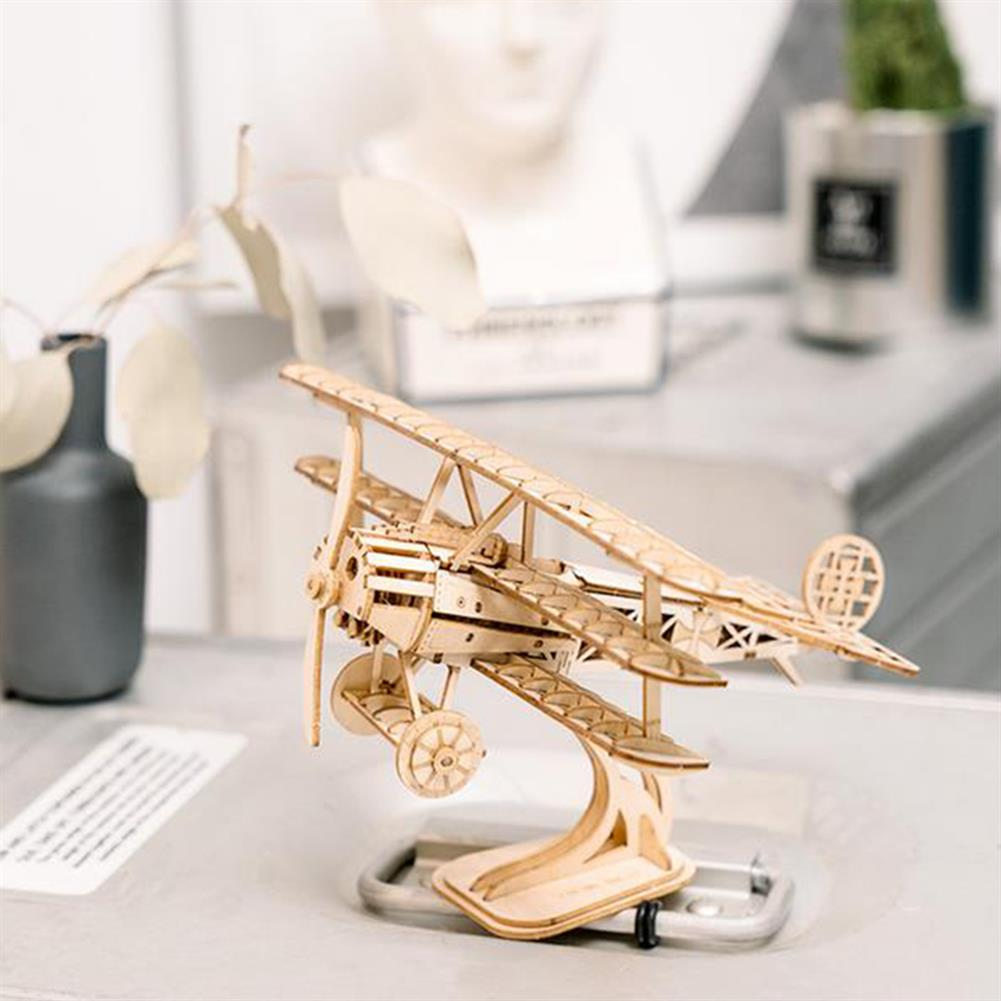 puzzle-game-toys Robotime TG301 Airplane Creative 3D Puzzle Handmade DIY Wooden Assembled Desktop Decoration Toys HOB1733571