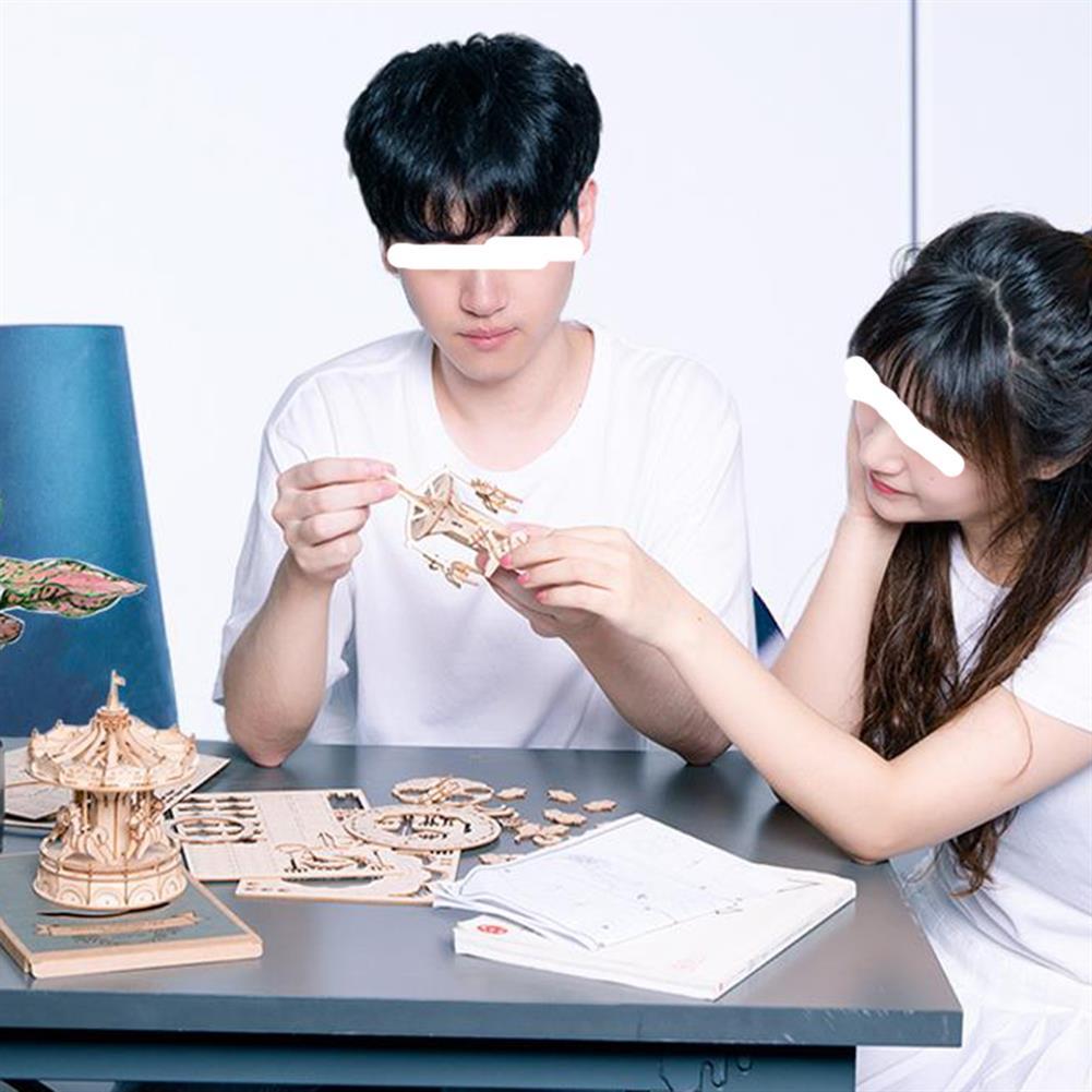 puzzle-game-toys Robotime TG301 Airplane Creative 3D Puzzle Handmade DIY Wooden Assembled Desktop Decoration Toys HOB1733571 2