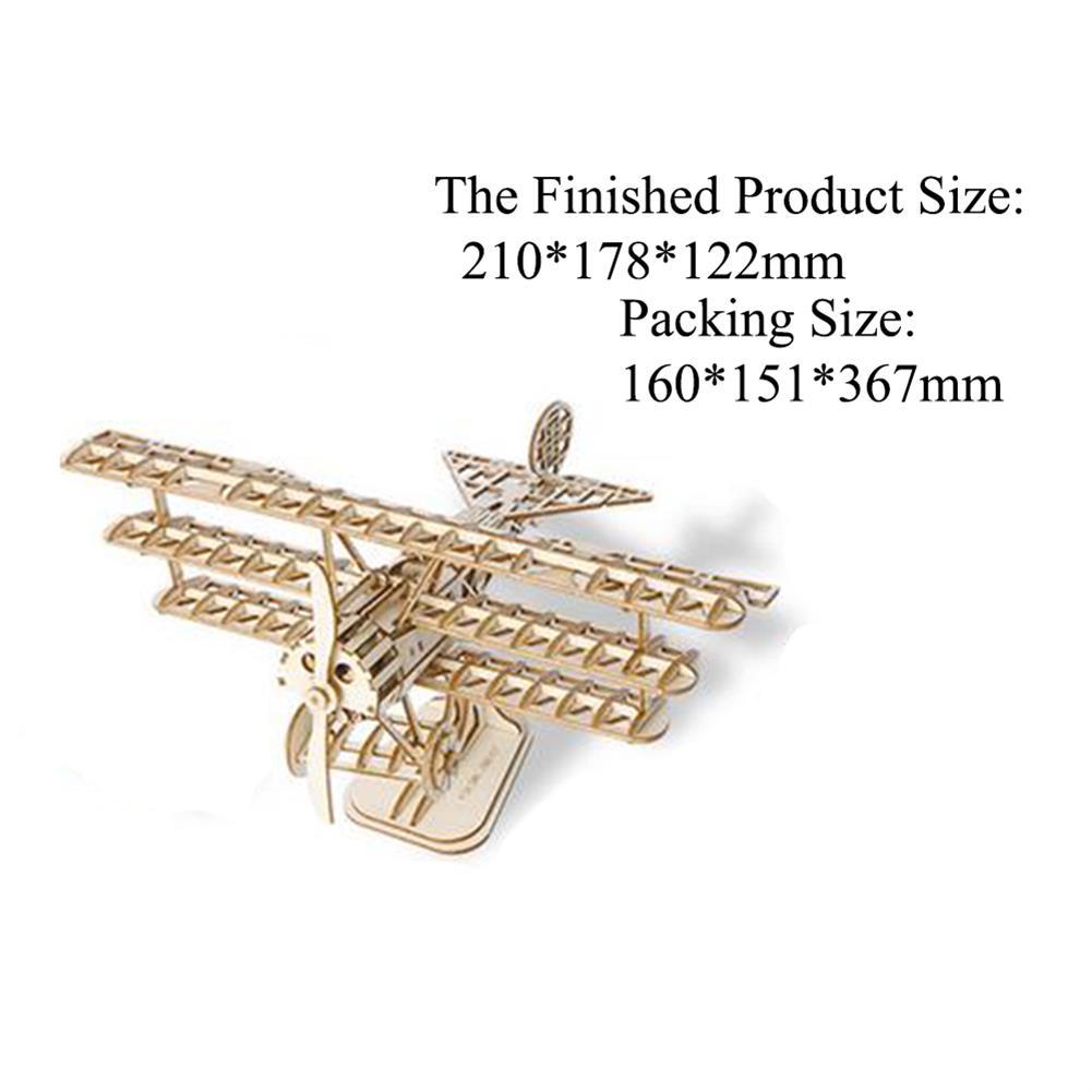 puzzle-game-toys Robotime TG301 Airplane Creative 3D Puzzle Handmade DIY Wooden Assembled Desktop Decoration Toys HOB1733571 3