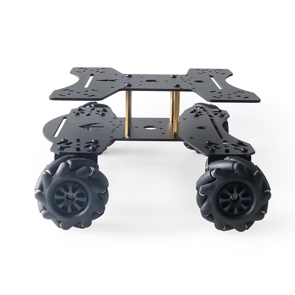 smart-robot-car MC801 Double-layer 65mm Omni Wheel Metal RC Smart Car Chassis HOB1734133