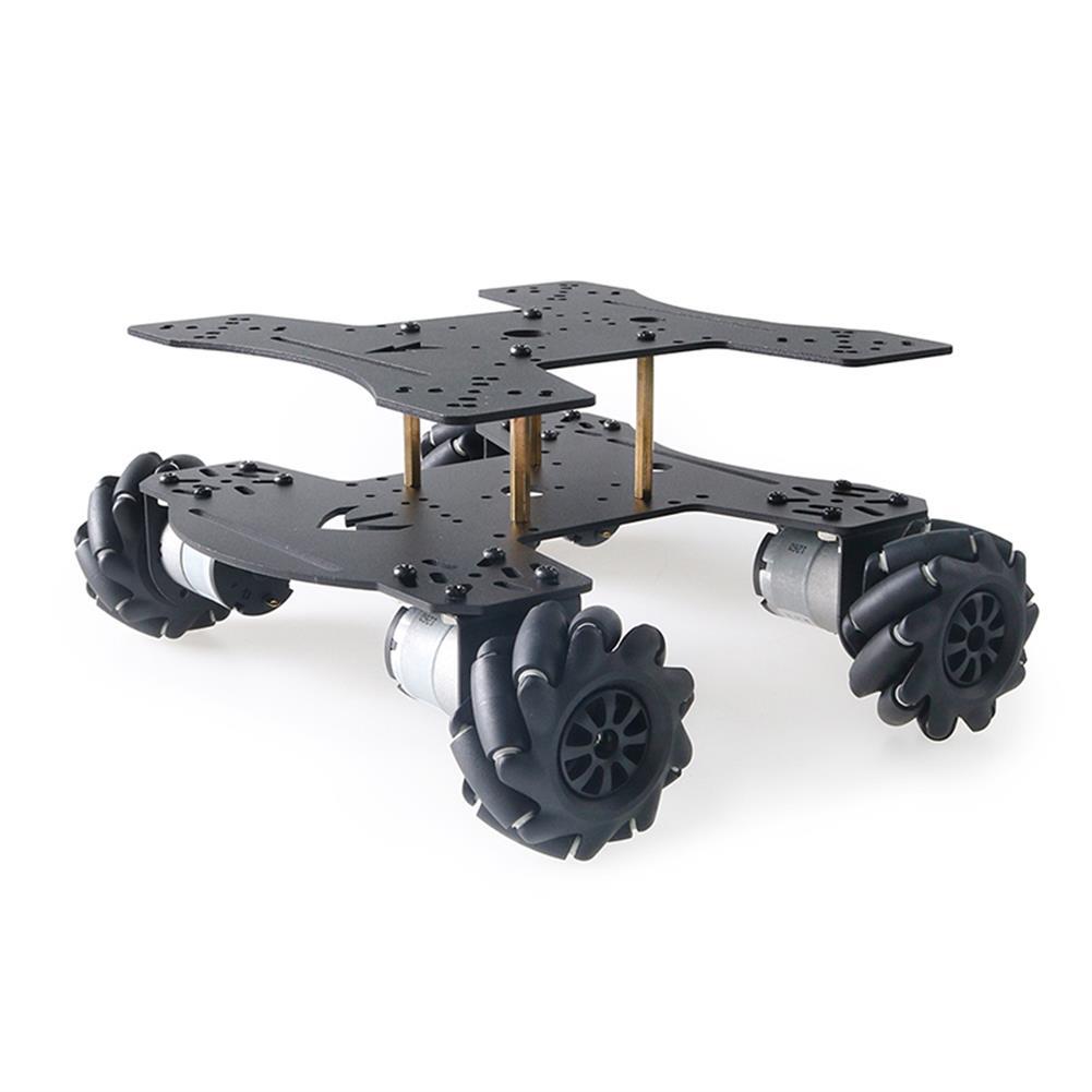 smart-robot-car MC801 Double-layer 65mm Omni Wheel Metal RC Smart Car Chassis HOB1734133 1