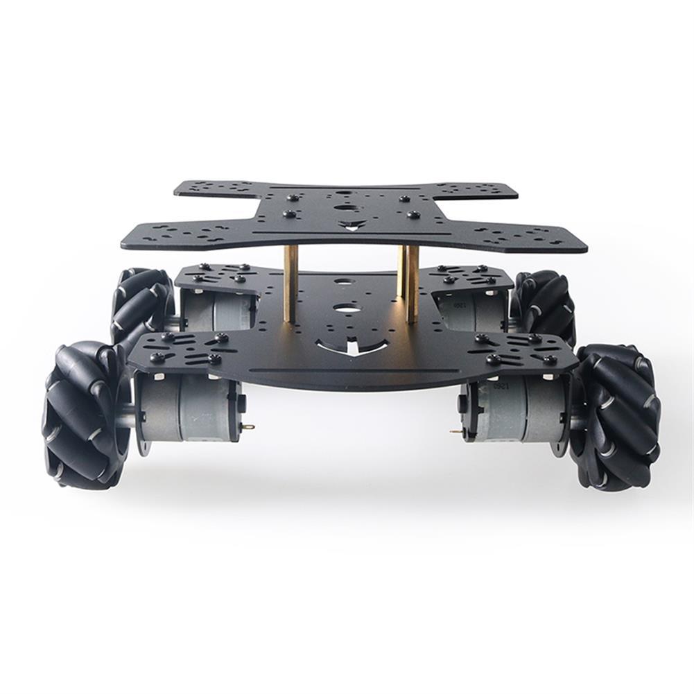 smart-robot-car MC801 Double-layer 65mm Omni Wheel Metal RC Smart Car Chassis HOB1734133 2