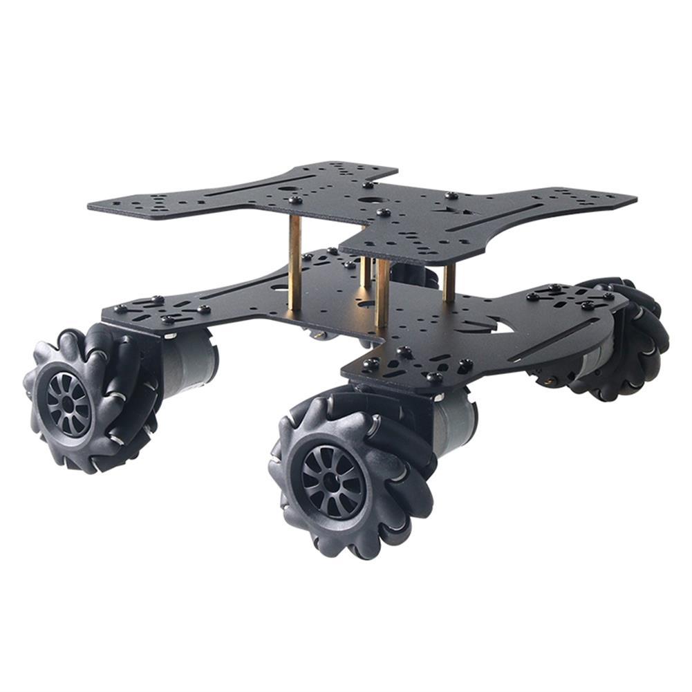 smart-robot-car MC801 Double-layer 65mm Omni Wheel Metal RC Smart Car Chassis HOB1734133 3