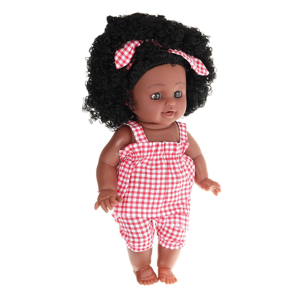 dolls-action-figure 12inch Soft Silicone Vinyl PVC Black Baby Fashion Doll Rotate 360 African Girl Perfect Reborn Doll Toy for Birthday Gift HOB1734365 1