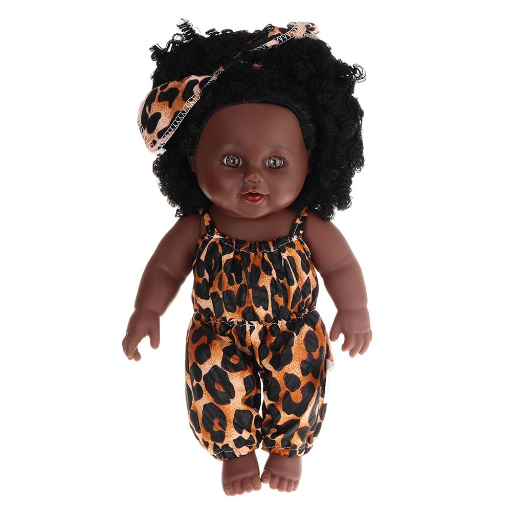 dolls-action-figure 12inch Simulation Soft Silicone Vinyl PVC Black Baby Fashion Doll Rotate 360 African Girl Perfect Reborn Doll Toy for Birthday Gift HOB1734367