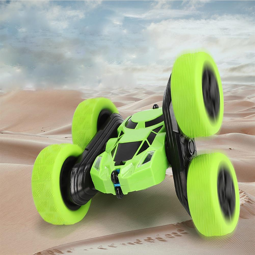 diecasts-model-toys 2.4g Charging Remote Control Rollover Climbing Double-sided Plastic Rotate Stunt Car Red/Blue/Green/Yellow for Kid HOB1734656 2