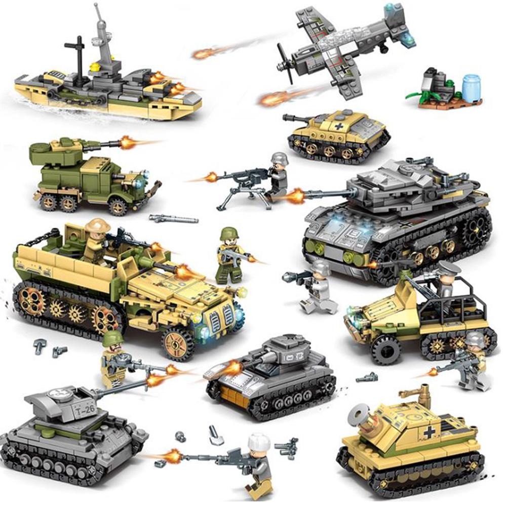 blocks-track-toys 1061PCS Plastic & ABS 8 Kinds of Steel Empire themed Military War Bricks Toy for Children HOB1737871