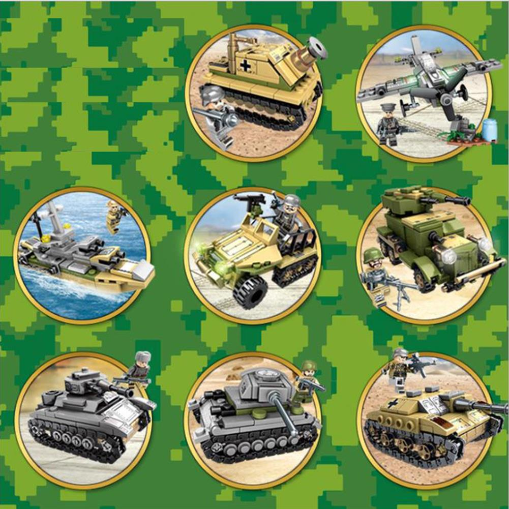 blocks-track-toys 1061PCS Plastic & ABS 8 Kinds of Steel Empire themed Military War Bricks Toy for Children HOB1737871 1