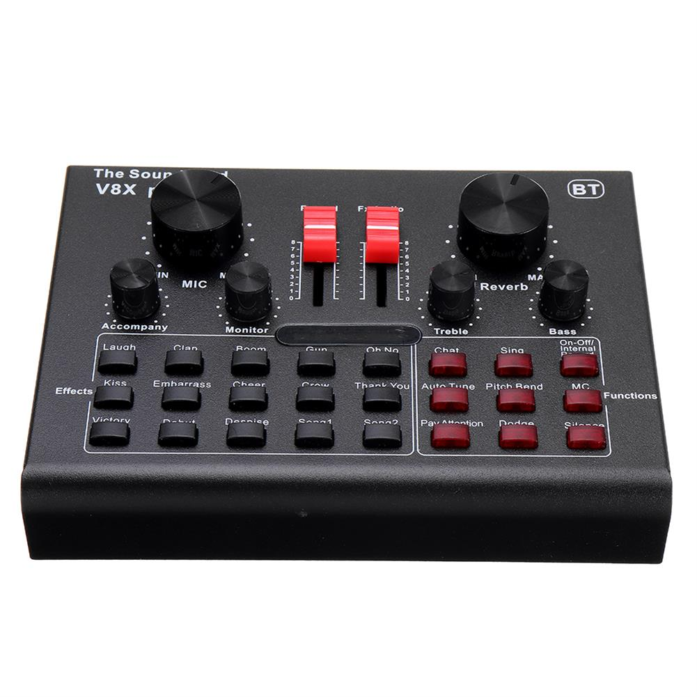 dj-mixers-equipment V8X PRO External Audio Mixer USB interface Sound Card with 15 Sound Modes Multiple Sound Effects HOB1738103 1