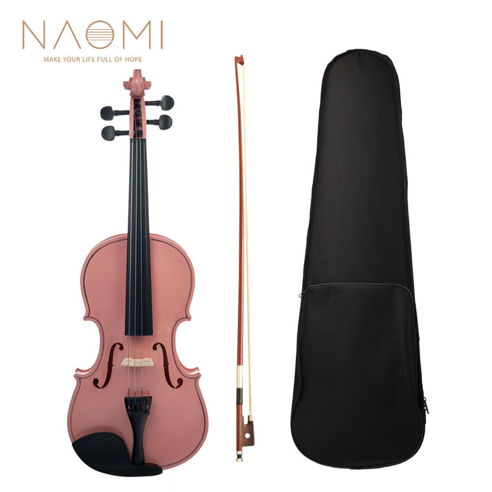 violin NAOMI Acoustic Violin 4/4 Full Size Violin Fiddle Student Violin Acoustic Violin for Beginners Students Use HOB1738909