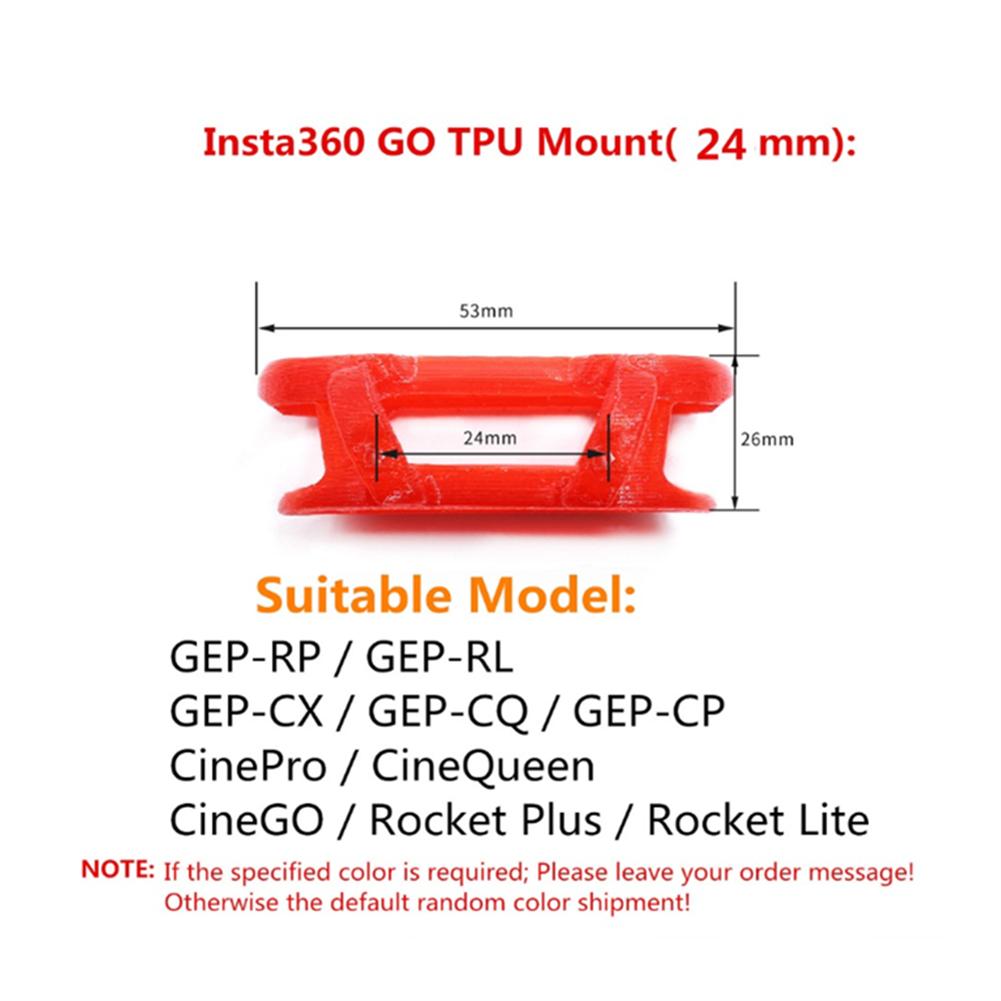 fpv-system GEPRC 24mm TPU Mount Framework for insta360 GO Action Camera to GEPRC RP/RL/CX/CQ/CP Quadcopter HOB1745850 3