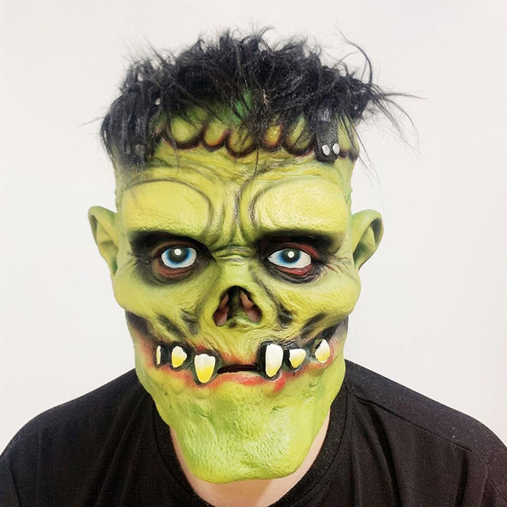 mask-costumes Green Zombie Scary Face Mask for Halloween Toys HOB1745966