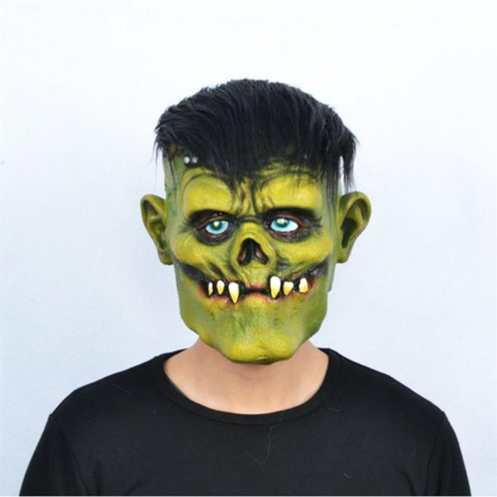 mask-costumes Green Zombie Scary Face Mask for Halloween Toys HOB1745966 1