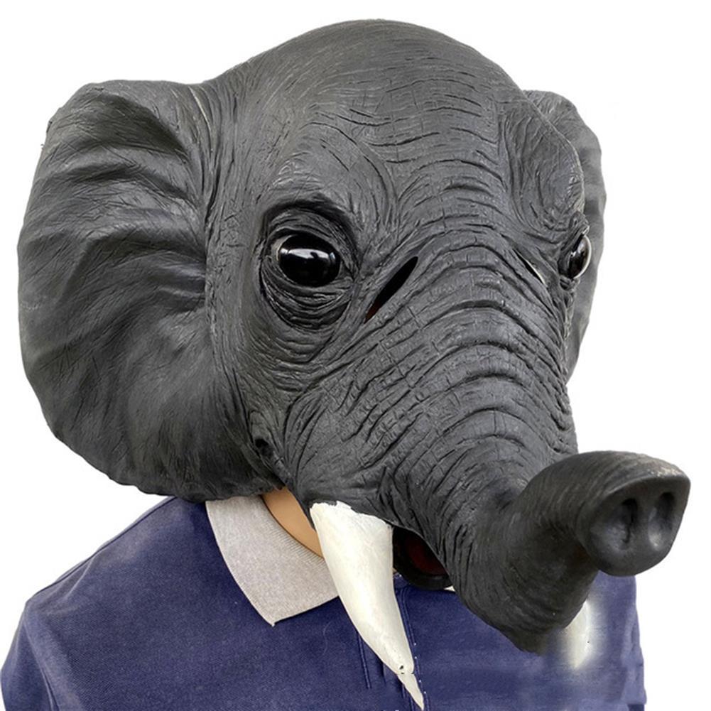 mask-costumes 26*43*28cm Grey Elephant Environmental Protection Latex Mask for Halloween Toys HOB1745971 1