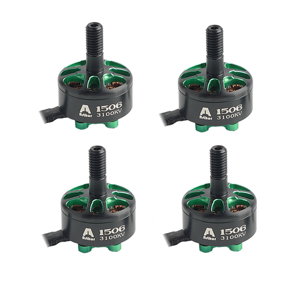 multi-rotor-parts 4 PCS Flashhobby Arthur Series A1506 1506 3100KV 3-6S Brushless Motor 5mm Shaft for 3-4 inch Freestyle RC Drone FPV Racing HOB1746471
