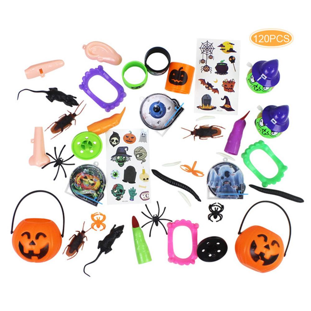 decoration 120PCS Mischievous insect & Halloween Tricky Toys for Children's Party Games HOB1747136