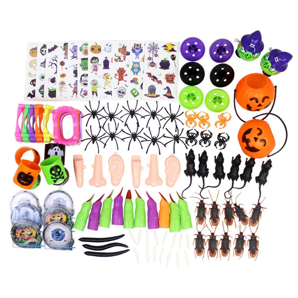 decoration 120PCS Mischievous insect & Halloween Tricky Toys for Children's Party Games HOB1747136 1