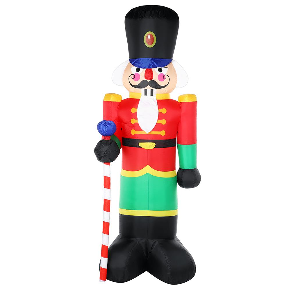 inflatable-toys 2.4m inflatable Christmas Soldier Man Air Blown Light Up Outdoor Yard Decor HOB1747579