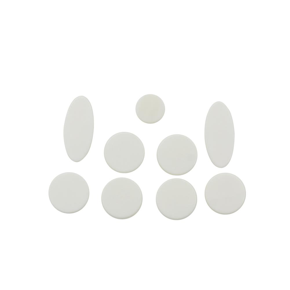 woodwind-brass-accessories 9pcs White Mother of Pearl Shell Key Button inlays for 10or/ Alto/ Soprano Sax Saxophone HOB1748997 1