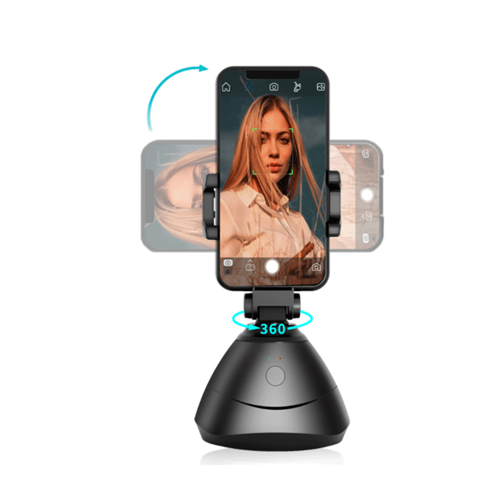 fpv-system 360 Face Tracking Gimbal Auto Smart AI Holder Live Broadcast for Vlog Video Recor Selfie Shooting Smartphone Selfie HOB1749049 1