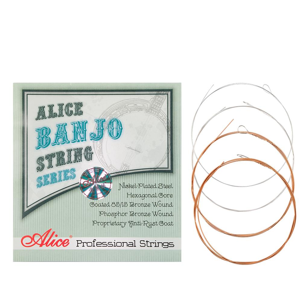 strings-accessories Alices 1 Set Banjo String AJ07 Banjo Strings 009 to 030 inch Plated Steel Coated Nickel Alloy Wound AJ07 HOB1749301